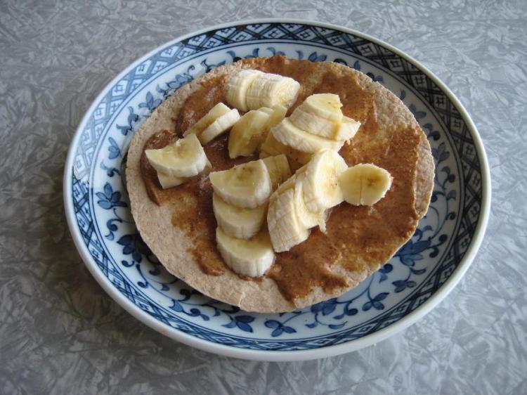 Peanut butter and banana taco