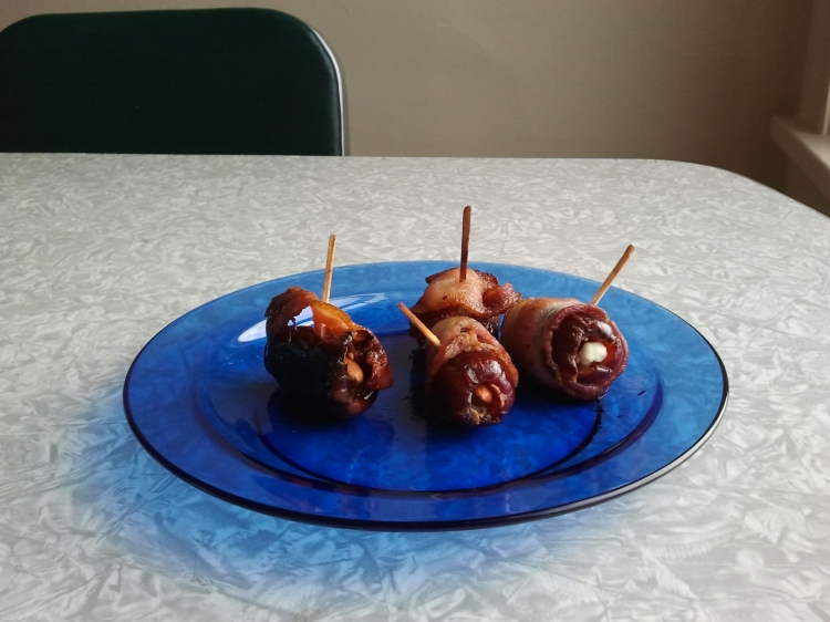 Goat cheese- and almond-stuffed dates