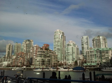The downtown Vancouver skyline