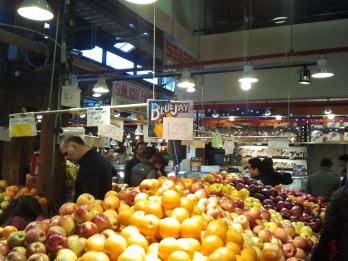 Fruit stand at Granville Island Public Market
