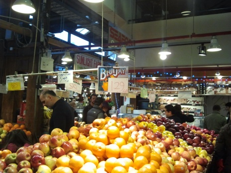 Fruit stand at Granville Island Public Market