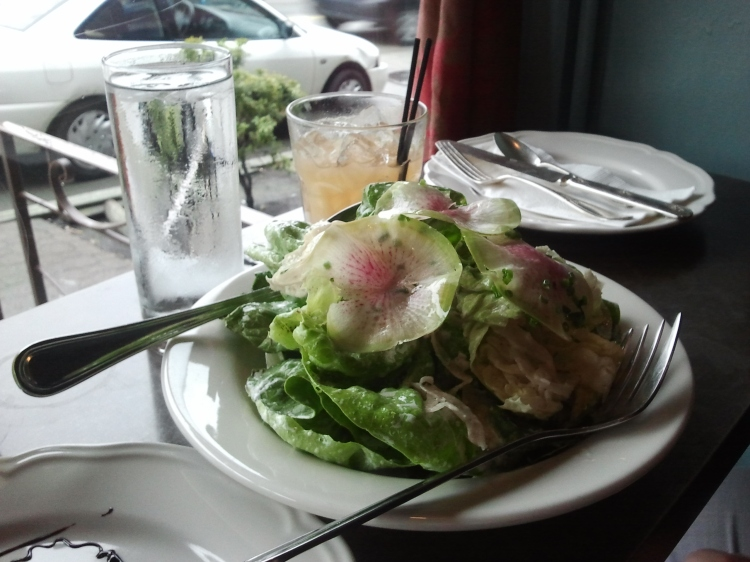 Butter lettuce salad at Dinette