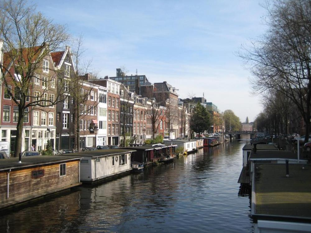 Amsterdam is scenic