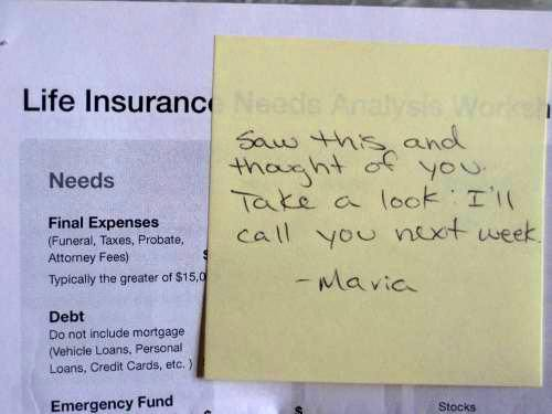 Life insurance thinking of you