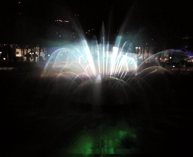 """Fountain of Light"" at Seattle Center International Fountain"