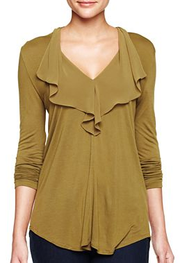 Green drape top - MNG by Mango