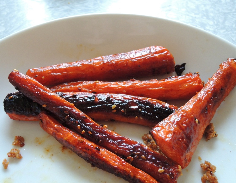 Sesame Honey Roasted Carrots