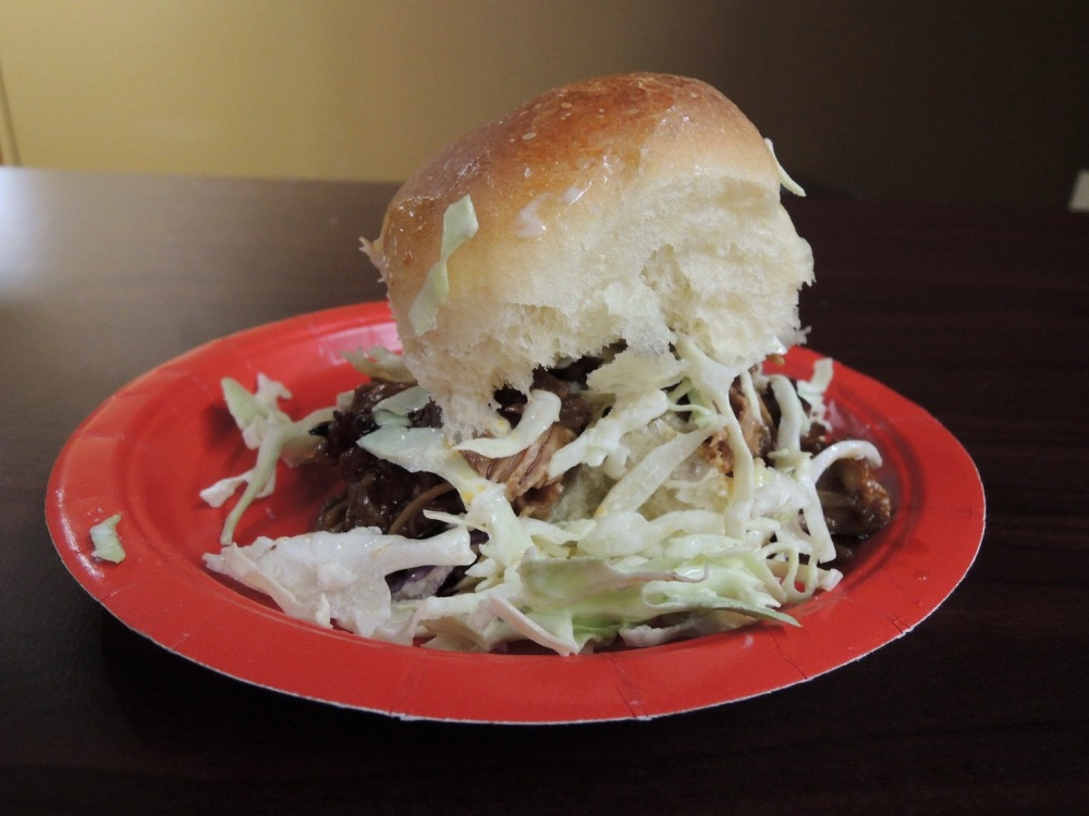 Seattle Underground Market - Pork Slider with slaw