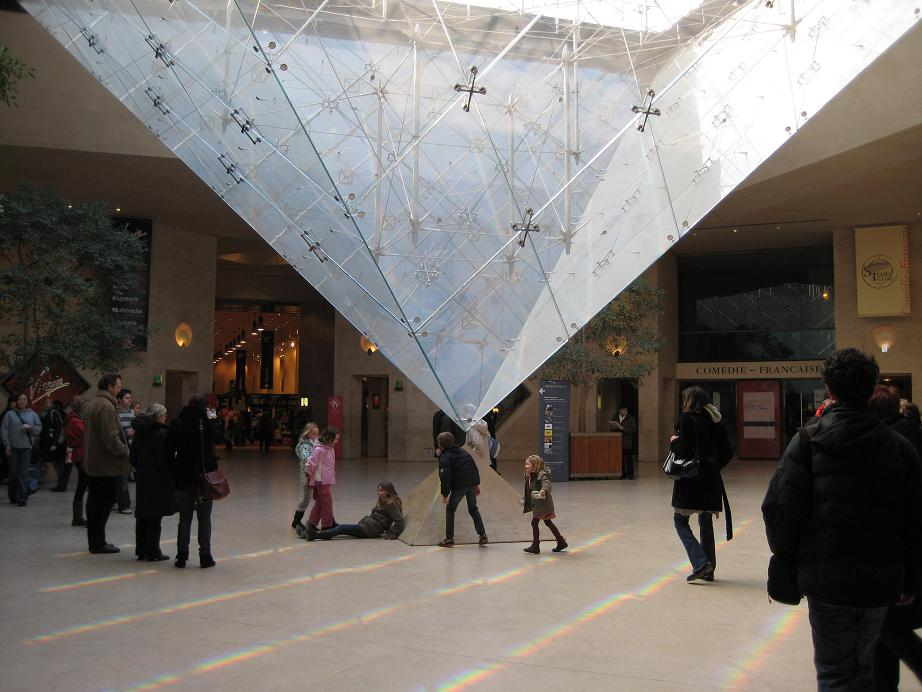 La Pyramide Inversee (the Inverted Pyramid) at the Louvre