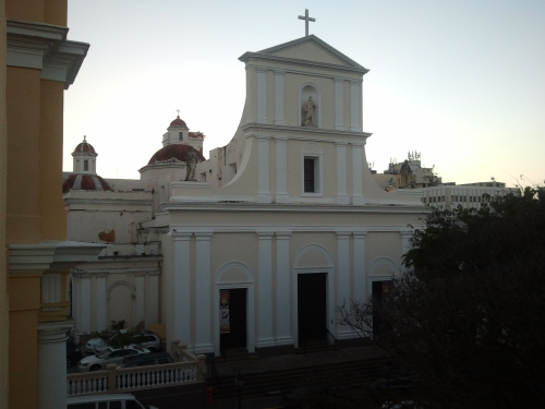 Cathedral of San Juan Bautista -  dusk