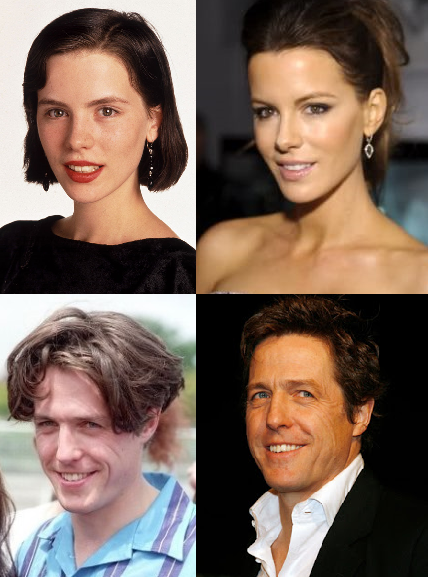 Kate Beckinsale and Hugh Grant are tan