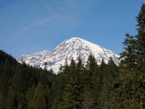 Mt. Rainier, as taken from Longmire historic district.