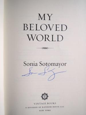 Sonia Sotomayor autograph