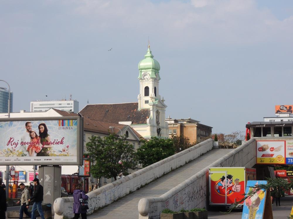 Alžbetínky Church and Tesco entry, Bratislava