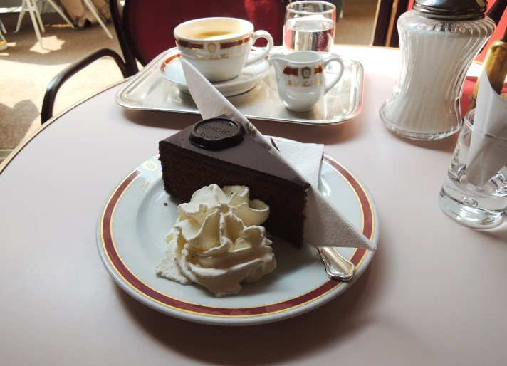 Sacher-Torte at Cafe Sacher Wien