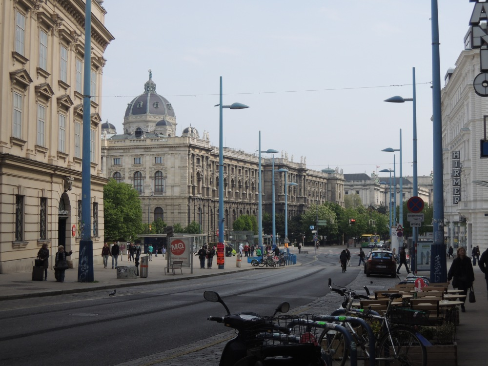 Vienna's Kunsthistorisches Museum, taken from the MuseumsQuartier