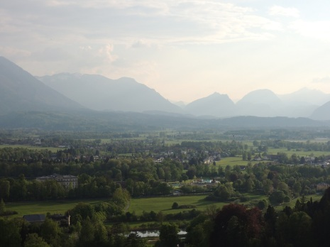 Salzburg surrounding mountains and countryside