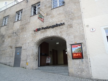 Hohensalzburg funicular entry