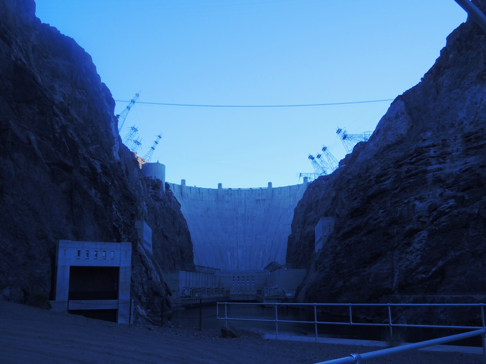 The Hoover Dam, early in the morning