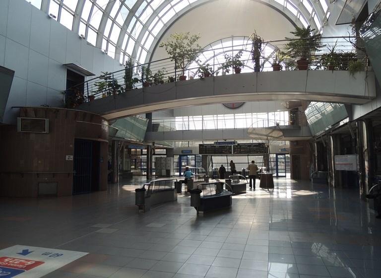 Bratislava Petrzalka train station interior