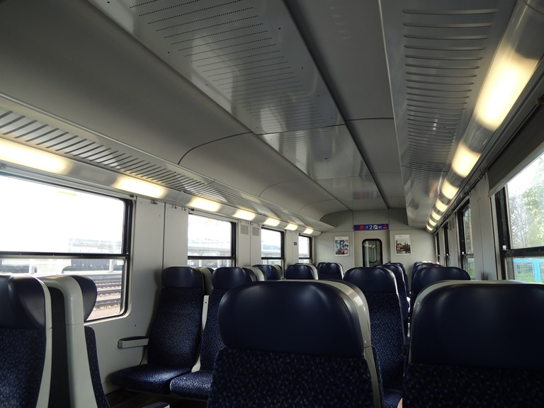 Bratislava train to Vienna Interior